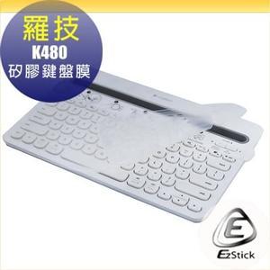【Ezstick】羅技 Logitech K480 多功能藍芽鍵盤 專用 高級矽膠 鍵盤保護膜 鍵盤膜