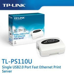 【免運費】TP-LINK  TL-PS110U 單一 USB2.0 連接埠快速乙太網路列印伺服器