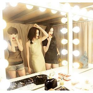LED化妝鏡 鏡前燈化妝鏡梳妝台燈泡黏貼免打孔LED簡約化妝台燈補光鏡子燈具   MKS夢藝家