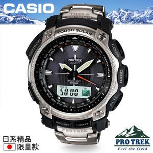 CASIO 手錶專賣店 卡西歐 PRO TREK登山錶 PRW-5050T-7JF 日本版 太陽能電波鈦金屬錶