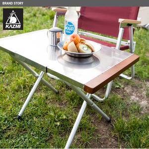 [KAZMI]折疊不鏽鋼小鋼桌(K3T3U002)