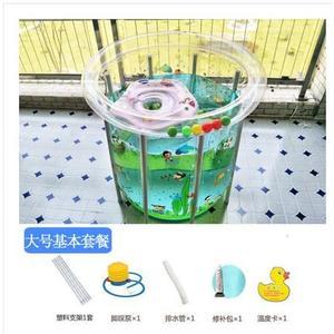 嬰幼兒童支架游泳池加厚家用寶寶充氣游泳池嬰兒游泳桶省水可折疊