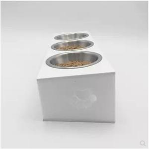 貓碗雙碗貓食盆貓咪碗亞克力狗碗貓量碗貓盆貓碗架寵物餐桌三碗 LX 貝芙莉