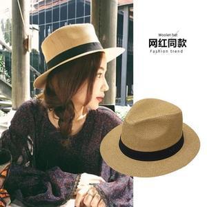 紳士帽帽子女夏草帽M標出游逛街禮帽英倫時尚爵士帽冬季渡假遮陽沙灘帽