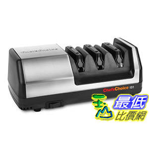 [美國直購] 電動磨刀器 Chef's Choice Model 151 Stainless Steel Universal Electric Knife Sharpener