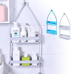 現貨!! 多功用雙層收納置物掛籃 居家浴室掛籃