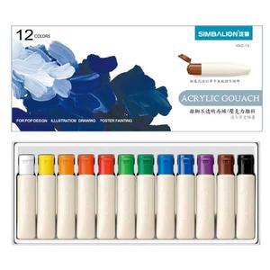 【雄獅】壓克力顏料-12ml管裝紙盒(12色組)