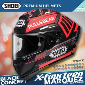 [中壢安信]SHOEI X14 選手 MARQUEZ BLACK CONCEPT 消光紅黑 螞蟻 全罩 X-14 冬測帽