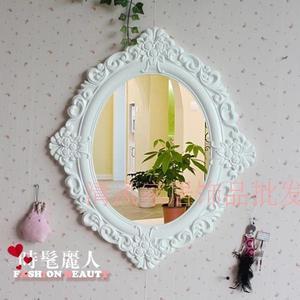 歐式仿古衛生間鏡子 田園風格梳妝鏡 浴室鏡 全店88折特惠