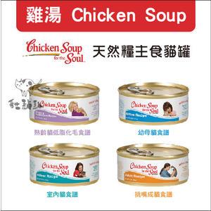 Chicken Soup心靈雞湯〔主食貓罐,4種口味,156g〕(一箱24入)