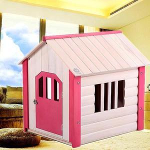 進口鬆木狗屋木質狗房子泰迪寵物房子床小型犬用WY 交換禮物降價