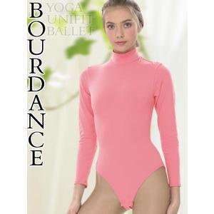 *╮寶琦華Bourdance╭*專業瑜珈韻律芭蕾☆杜邦SP高領長袖連身【71001008】