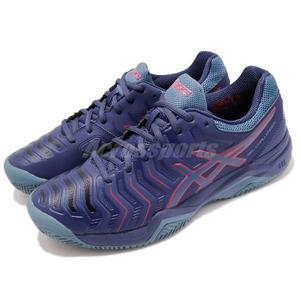 Asics 網球鞋 Gel-Challenger 11 Clay 藍 紅 運動鞋 舒適緩震 進階款 男鞋【PUMP306】 E704Y400