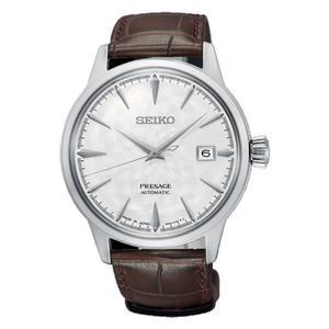 日本SEIKO 精工  PRESAGE  機械錶4R35-02H0W(SRPC03J1) 白面咖啡皮帶
