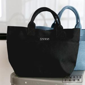 LOWRYS FARM素色帆布按釦經典品牌托特中型手提包-三色
