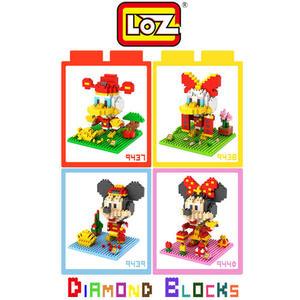 LOZ 迷你鑽石小積木 迪士尼賀歲版 唐老鴨 戴絲鴨 米奇 米妮 樂高式 組合玩具 益智玩具 原廠正版