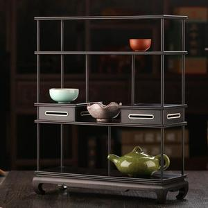 紅木中式多寶閣置物架實木小博古架紫砂茶壺架子擺架茶具架展示架