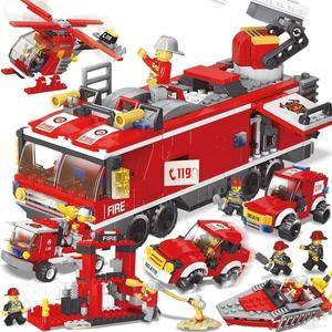 樂高積木 男孩子我的世界消防車6拼裝8模型兒童玩具7-10歲益智 ZJ643 【大尺碼女王】