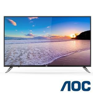 免運費+贈聲霸 美國 AOC 55吋 淨藍光 4K聯網 液晶 電視/顯示器+視訊盒 LE55U7570