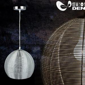 摩燈時尚風格  全方位金屬鋁線單吊燈【 燈巢1+1】燈具。燈飾。Led居家照明。桌立燈。02042681