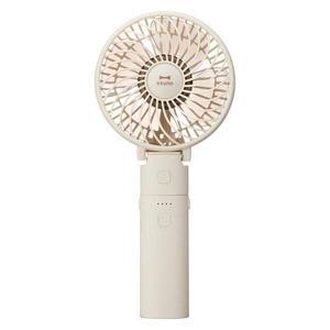 日本 BRUNO Portable Mini Fan 兩用便攜強力旅行風扇(象牙白色)