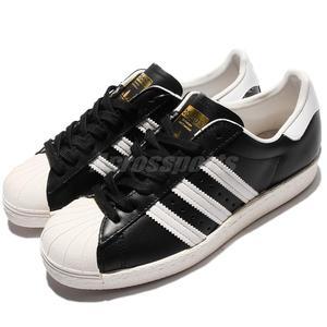 adidas 休閒鞋 Superstar 80s 金標 奶油底 黑 白 復古貝殼頭 男鞋 女鞋【PUMP306】 G61069