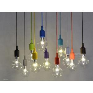 INPHIC首選燈具-矽膠E27燈頭吊燈/復古裝飾吊燈/多色LED吊燈/帶線燈座