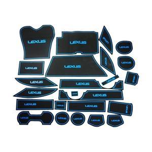 【吉特汽車百貨】凌志 LEXUS RX系列  專用 24片 止滑防水 製震杯墊 置物墊 門邊墊 止滑墊 防水墊