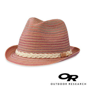 【OR 美國】Outdoor Research Ixtapa Fedora 女 透氣麻花軟呢草帽『桃紅』244072 登山.戶外.露營.防曬帽
