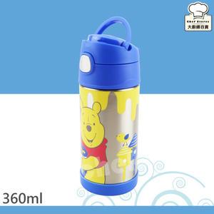 膳魔師小熊維尼保冷瓶蜜蜂篇360ml兒童水壺保溫杯附吸管提袋-大廚師百貨