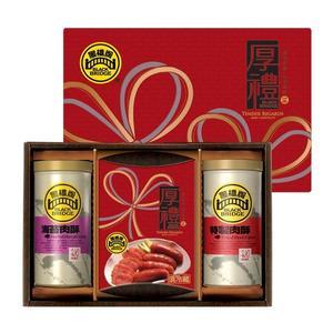 【黑橋牌】厚禮敦情禮盒B(蒜味香腸、肉酥罐、海苔肉酥罐)