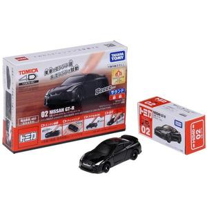 TOMICA 4D 小汽車 02 日產 GT-R Black