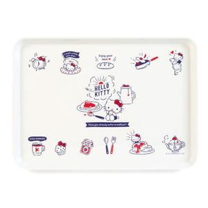Hello Kitty托盤 早餐吐司造型長方形托盤/日式茶盤/水果餐盤/毛巾盤/甜品盤 [喜愛屋]