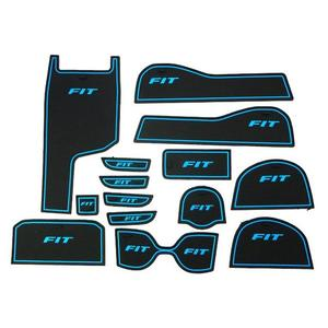HONDA喜美 14年 FIT 專車專用 14片式 止滑防水製震 杯墊 置物墊 門邊墊 止滑墊 防水墊