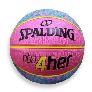 (AY) [SPALDING斯伯丁] 戶外6號籃球 粉紅 女子用球系列 SPA83050 【陽光樂活】