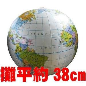 [衣林時尚]英文版 地球儀沙灘球 充氣後寬直徑約30cm  (平量約38cm)