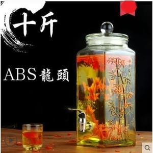 泡酒玻璃瓶泡酒瓶帶龍頭10斤泡酒壇子藥酒瓶家用密封罐釀酒罐