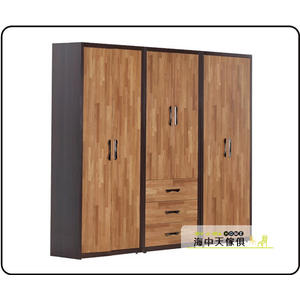 {{ 海中天休閒傢俱廣場 }} C-25 摩登時尚 衣櫥系列 024-A 亞瑟8尺集層柚木組合衣櫃