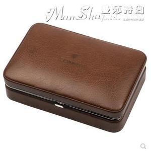 雪茄盒 便攜式雪茄保濕盒進口雪鬆木皮盒 雪茄剪打火機 【驚喜價格】