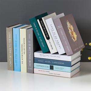 假書 簡約現代假書北歐裝飾仿真書道具書書房裝飾書擺設創意網咖擺件書