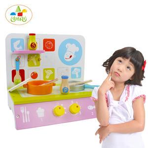 *幼之圓*益智玩具~木製仿真彩色廚房組~粉嫩廚房組~仿真家家酒玩具