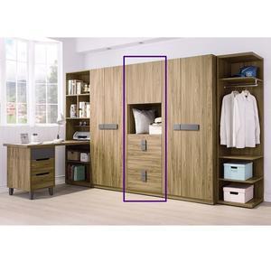 【森可家居】佛羅倫斯2尺四抽衣櫥(單只) 7HY86-4 衣櫃 木紋質感 衣物收納
