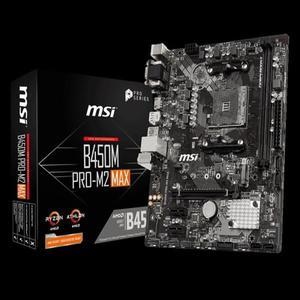 【綠蔭-免運】微星MSI B450M PRO-M2 MAX AM4主機板
