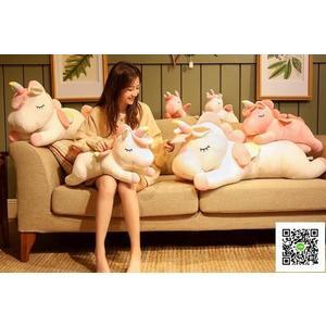 玩偶 可愛獨角獸睡覺抱枕懶人超軟萌娃娃公仔床上玩偶女孩毛絨玩具女生 MKS霓裳細軟