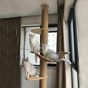 chopin進口鬆木貓爬架超粗通天柱豪華貓架家具貓跳台貓樹頂天立地【米拉生活館】JY