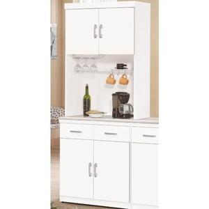 櫥櫃 餐櫃 QW-937-3 祖迪白色2.7尺石面雙門碗碟櫃(上+下)【大眾家居舘】