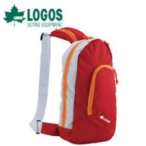 丹大戶外用品 日本【LOGOS】88250111 休閒斜背包 4L 紅 側背包/斜背包/腰包/休閒包/置物包
