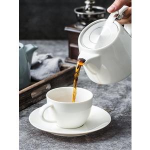 北歐小型紅色陶瓷家用咖啡壺創意簡約美式下午茶紅茶壺帶濾網訂製 英雄聯盟