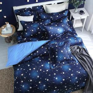 閃耀星空 單人鋪棉床罩組(3.5x6.2呎)五件式(100%純棉)藍色[艾莉絲-貝倫] MIT台灣製T5H-F-202-BU-S