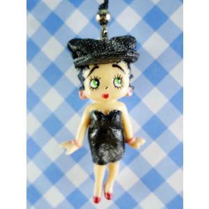【震撼精品百貨】Betty Boop_貝蒂~手機吊飾-娃娃(黑禮服)